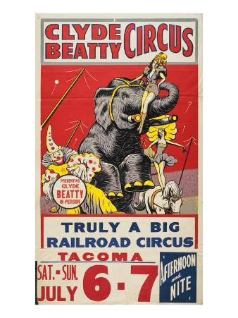 """Clyde Beatty Circus; Truly Big Railroad Circus"", 1935"
