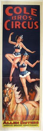 """""""Allen Sisters, America's Greatest Equestriennes"""", Circa 1940"""