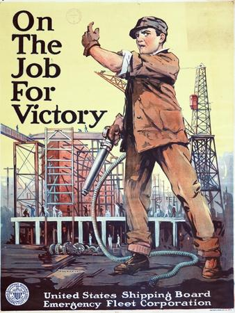 """""""On the Job For Victory"""", 1918"""