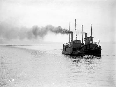 Tugs R.P. Elmore and Irene Underway, Circa 1912
