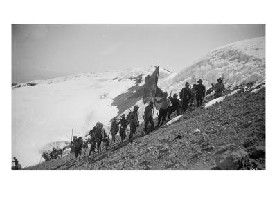 On the Summit of Rainier, 1909