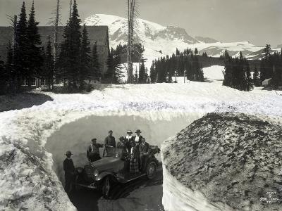 Road Through Snow, Near Paradise Inn, 1921
