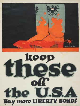 """""""Keep These Off the U.S.A.: Buy More Liberty Bonds"""", 1918"""