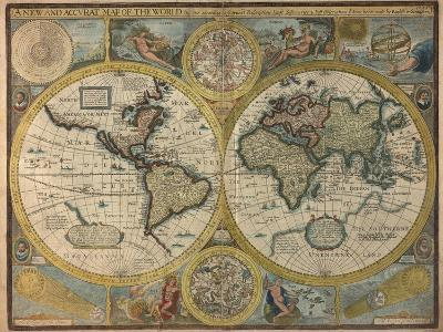 A New and Accurat Map of the World, 1651