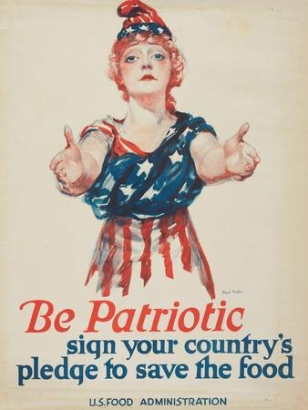 """""""Be Patriotic: Sign Your Country's Pledge to Save the Food"""", 1918"""