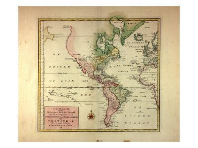 Nieuwe Kaart Van Het Weftelykste Deel Der Weereld...Naar Westindie, 1754