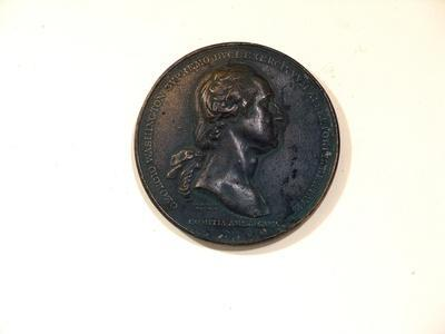 Medallion Made of Plaster, with Profile Portrait of George Washington