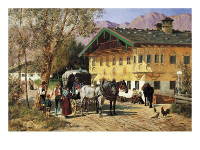 A Village Gathering in Bavaria