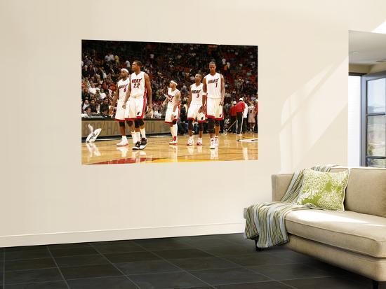 Indiana Pacers v Miami Heat: LeBron James, James Jones, Eddie House, Dwyane  Wade and Chris Bosh