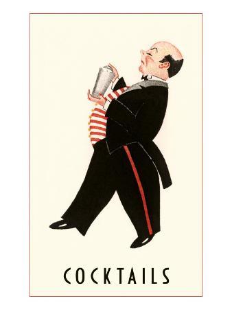 English Butler with Martini Shaker
