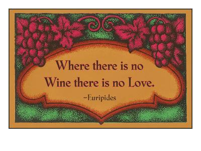 Where there is no Wine, Motto, Art Deco