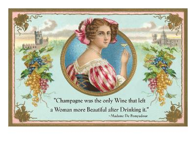 Champagne was the only wine, Motto