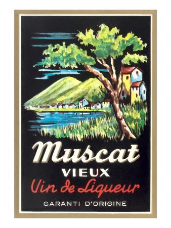 Muscat Liqueur Label