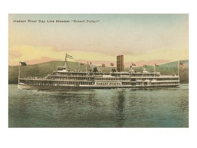 Robert Fulton Steamer on the Hudson River