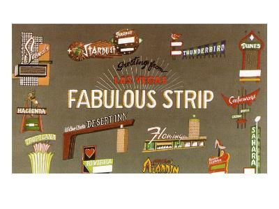 Fabulous Strip, Las Vegas Hotel Signs, Nevada