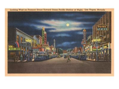 Fremont Street at Night, Las Vegas, Nevada