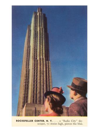 Tourists Gazing at RCA Building, New York City