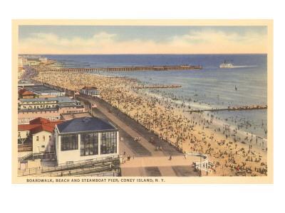 Beach and Boardwalk, Coney Island, New York City