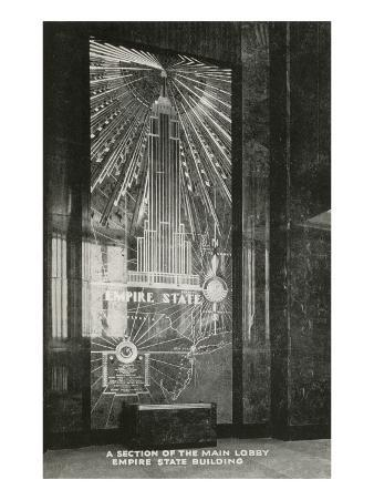 Lobby, Empire State Building, Art Deco, New York City