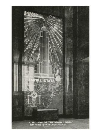 Lobby, Empire State Building, Art Deco, New York City