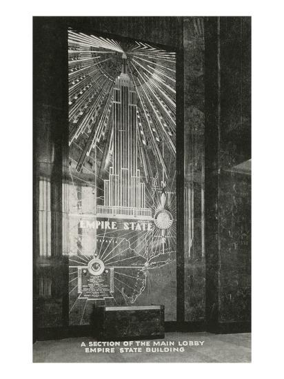 Lobby Empire State Building Art Deco New York City Posters At Allposters