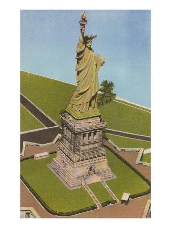 Aerial View, Statue of Liberty, New York City