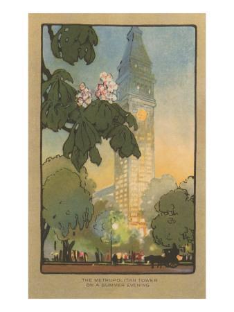 Art Deco Rendering of Metropolitan Tower, New York City