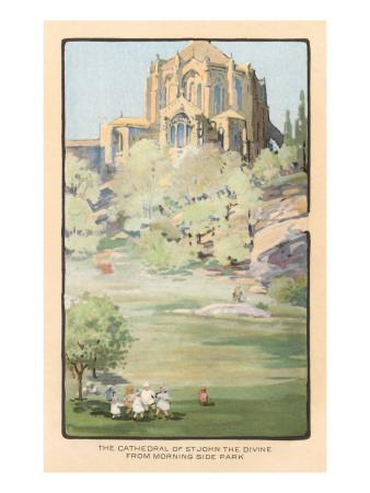 Painting of St. John the Divine Cathedral, New York City