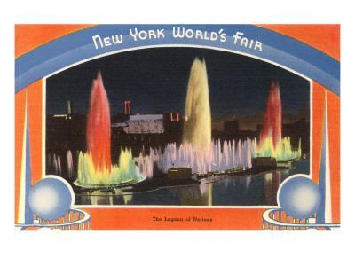 Lagoon of Nations at Night, New York World's Fair, 1939