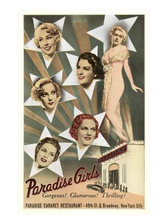 Paradise Girls, Cabaret Advertisement, New York City