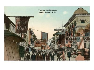 View of the Bowery, Coney Island, New York City
