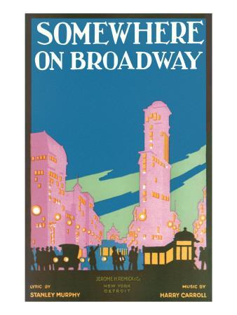Somewhere on Broadway, Sheet Music, New York