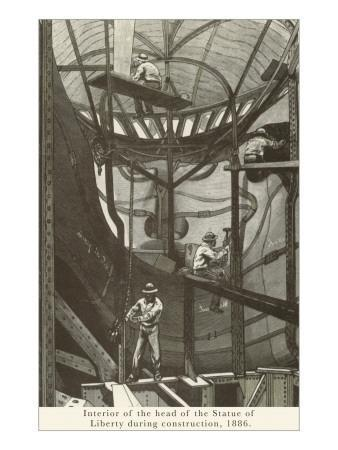 Interior of Statue of Liberty During Construction