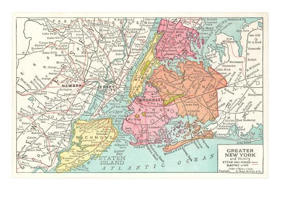 Map Of Greater New York City Area.Map Of Greater New York City