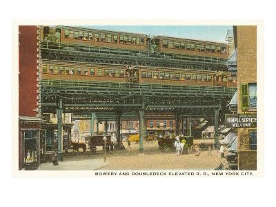 Bowery and Doubledeck Elevated Railroad, New York