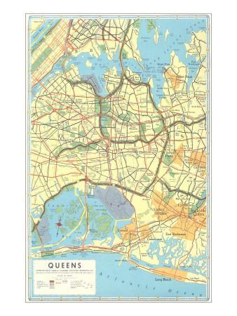 Map of Queens, New York