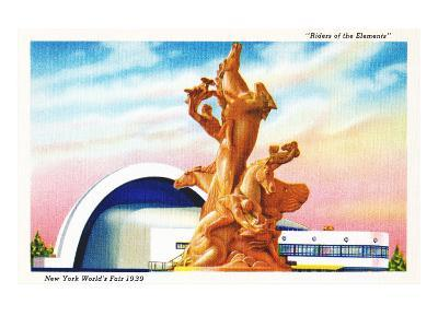 Riders of the Elements Statue, New York World's Fair
