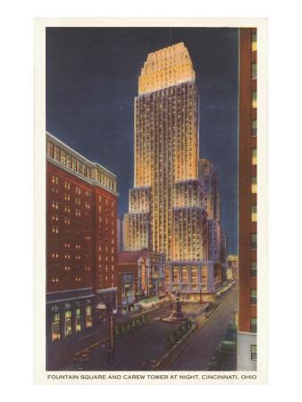 Night, Carew Tower, Cincinnati, Ohio