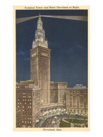 Night, Terminal Tower, Cleveland, Ohio