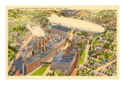 Goodyear Blimp and Factory, Akron, Ohio