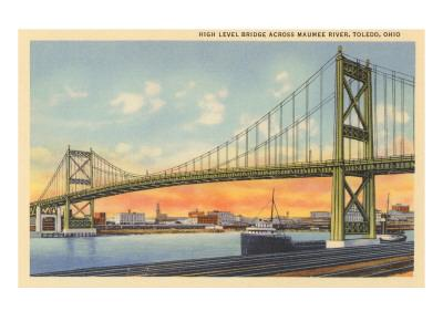 Bridge over Maumee River, Toledo, Ohio