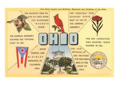 Ohio's Flag, Bird, Capitol, etc.