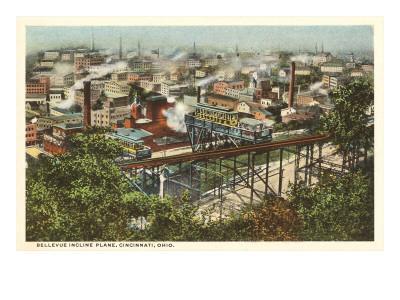 View over Bellevue Incline Plane, Cincinnati, Ohio