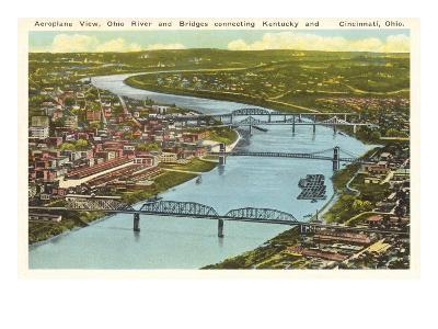 Bridges over Ohio River, Cincinnati, Ohio