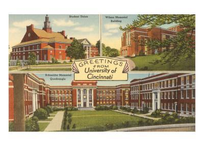 Views of University of Cincinnati, Ohio