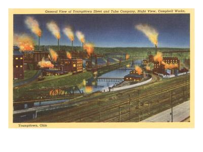 Night, Factories, Youngstown, Ohio
