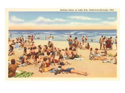 Beach Scene, Geneva-on-the-Lake, Ohio