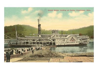 Riverboat Landing at Coney, Cincinnati, Ohio