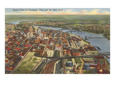 View over Cincinnati, Ohio