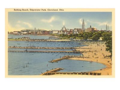 Beach, Edgewater Park, Cleveland, Ohio